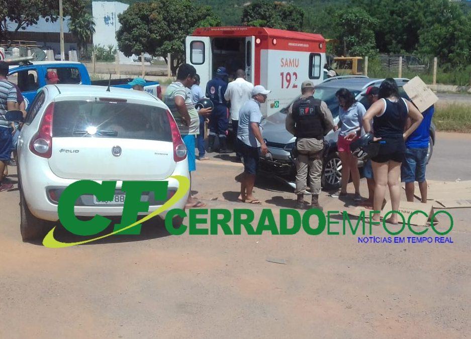 Barreiras:Motoclista ficou ferido em acidente na BR-242
