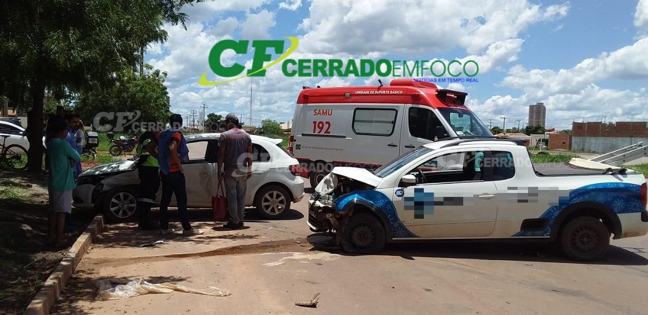 LEM: Colisão entre dois veículos no Bairro Mimoso 1