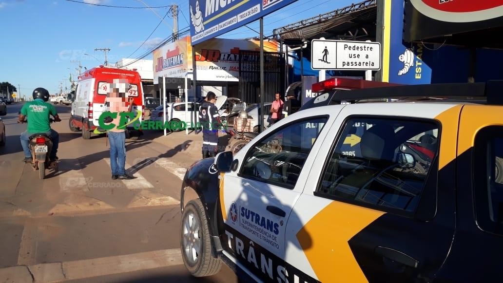LEM: SUTRANS registra acidente de trânsito no bairro Santa Cruz.
