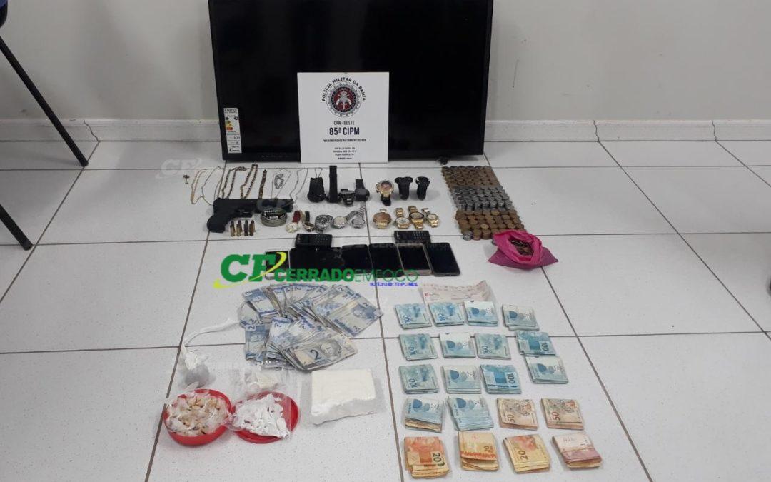 LEM: Guarnição da ROCAM desarticula ponto de comercialização de drogas no bairro Tropical Ville II.
