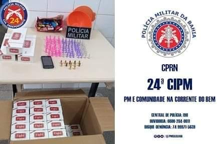 Jacobina-BA: 24ª CIPM prende indivíduos por associação ao tráfico de entorpecentes.