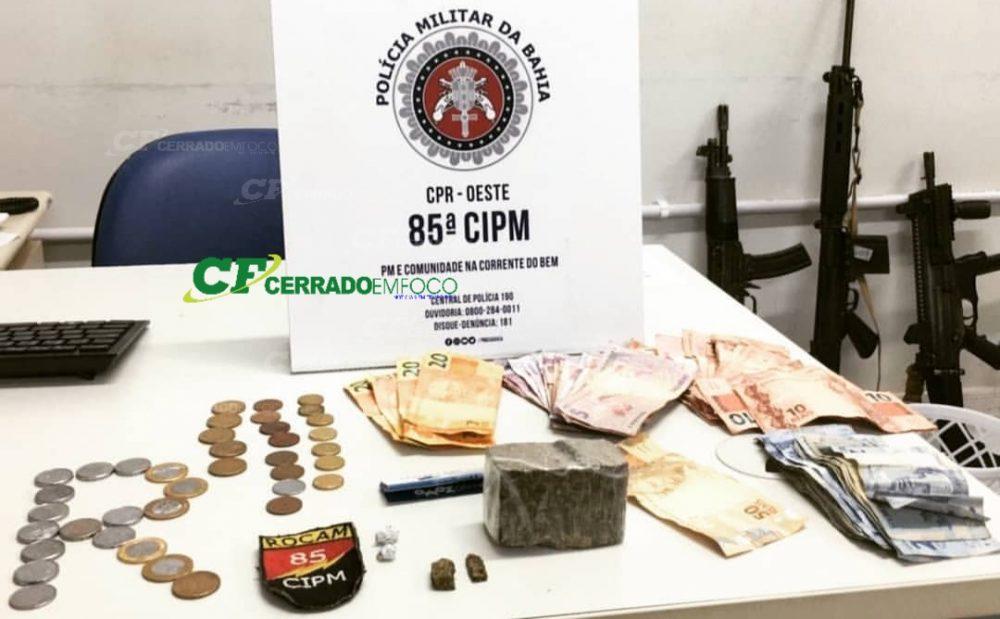 LEM: ROCAM da 85° CIPM prende mulher por tráfico de drogas no bairro Sol do Cerrado.
