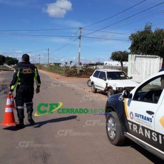 LEM: SUTRANS registra colisão entre veículos no bairro Jardim Imperial.