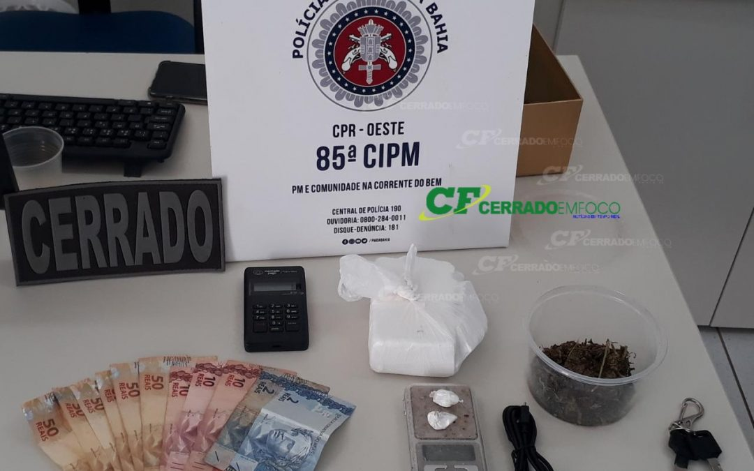 LEM: Em operação conjunta, CIPE Cerrado e ROCAM da 85° CIPM prendem homem por tráfico de drogas.