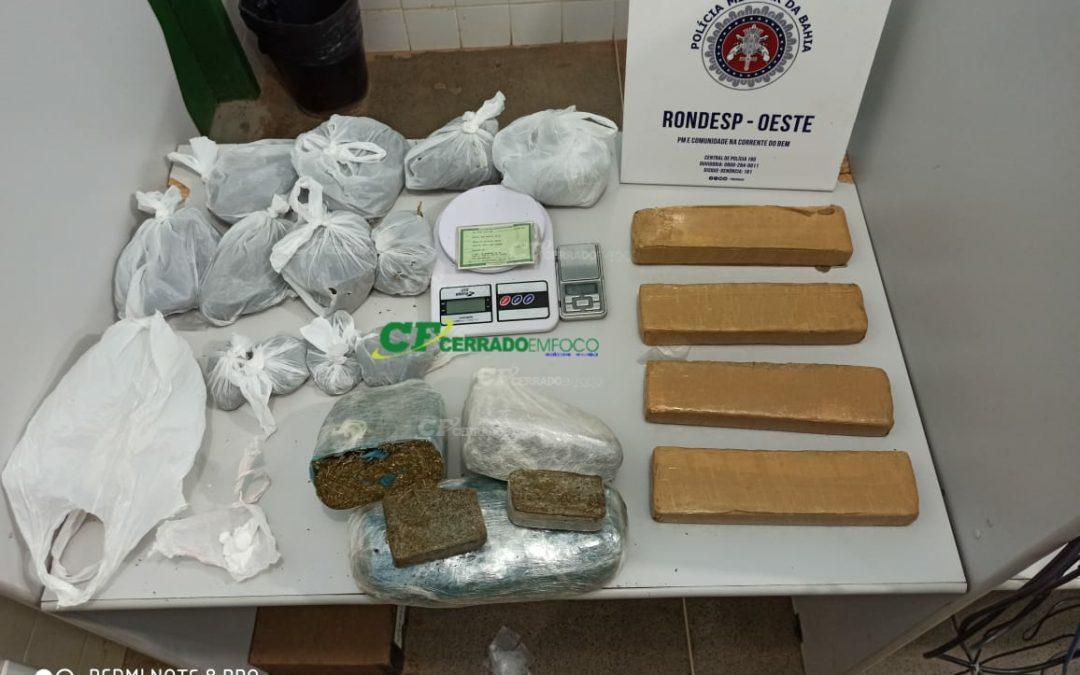 Barreiras: RONDESP/OESTE prende indivíduo por tráfico de drogas