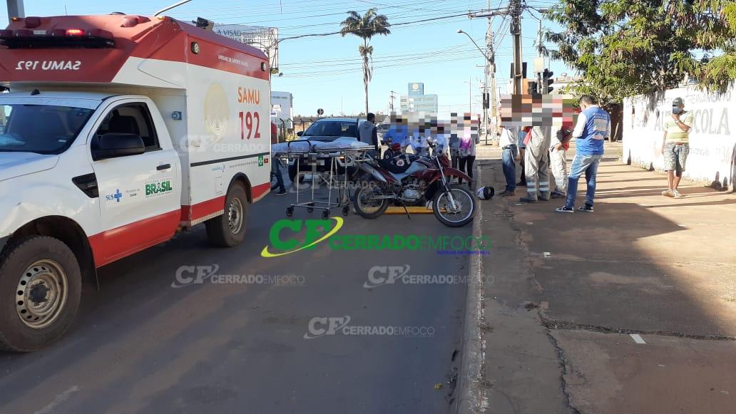 LEM: Colisão envolvendo carro e motocicleta gera danos materiais aos envolvidos