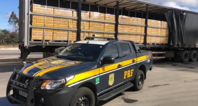 Combate a sonegação fiscal: PRF apreende quase 100.000 mil litros de produtos transportados irregularmente em trechos baianos das Brs 116 e 242.