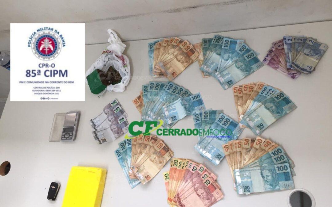 LEM: Guarnição da ROCAM prende indivíduo por tráfico de drogas no bairro Florais Léa II.
