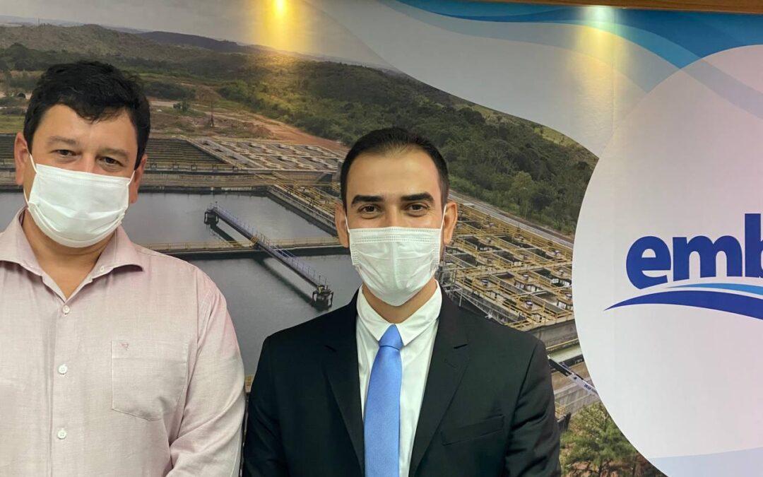 LEM: Prefeito Junior Marabá se reúne com presidente da Embasa em Salvador